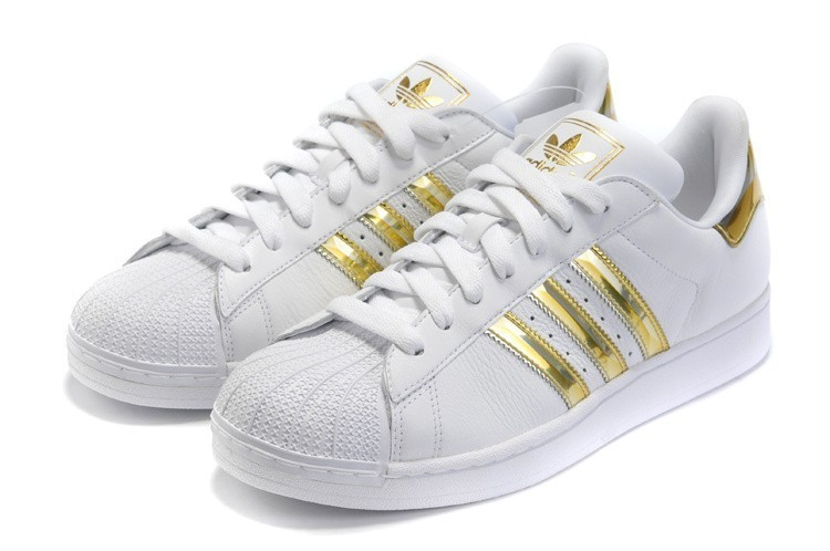 Nueva Hombre Mujer Adidas Originals Superstar II Zapatillas Blancas Doradas Zapatillas de Running Outlet España