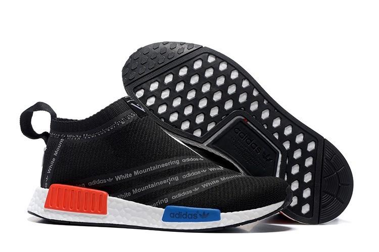 Compra Hombre Adidas Originals NMD High Top Sneaker Negras Rojas Azul Blancas Rebajas Baratas