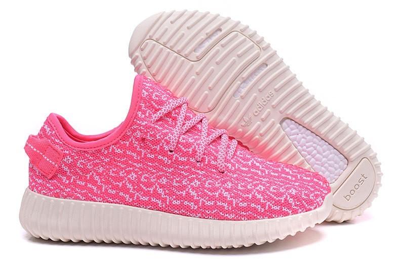 Compra Mujer Rosa Blancas Adidas Yeezy Boost 350 Zapatillas España Online