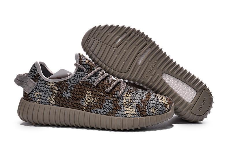 Nueva Adidas Yeezy Boost 350 Hombre Zapatillas Marrones Grises AQ4840 Online Baratas