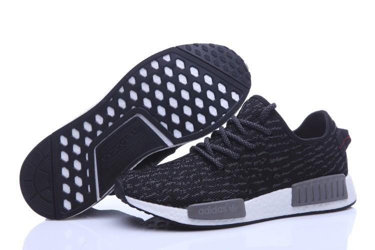 Oferta Adidas NMD Runner X Yeezy Boost 350 Hombre Zapatillas Negras Grises Rebajas Online