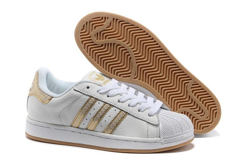 """Venta Mujer Adidas Originals Superstar 2 """"Bling Pack"""" Blancas Doradas Casual Zapatillas Baratas"""