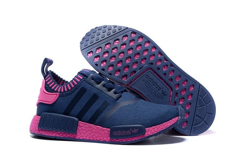 Nueva Mujer Zapatillas - Adidas Originals NMD High Top Marino Rosa España Online