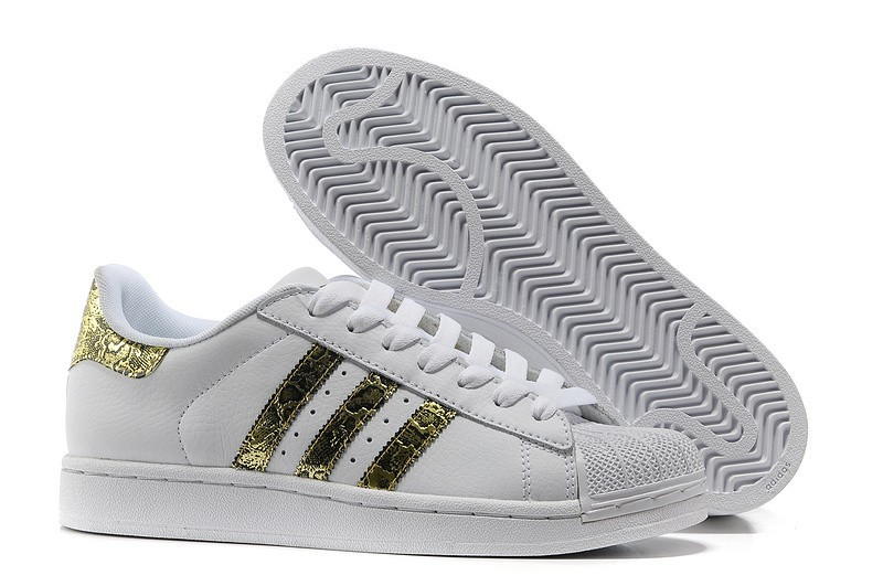 Comprar Hombre Mujer Adidas Originals Superstar 2 Bling Casual Zapatillas Blancas metallic Doradas G62845 España