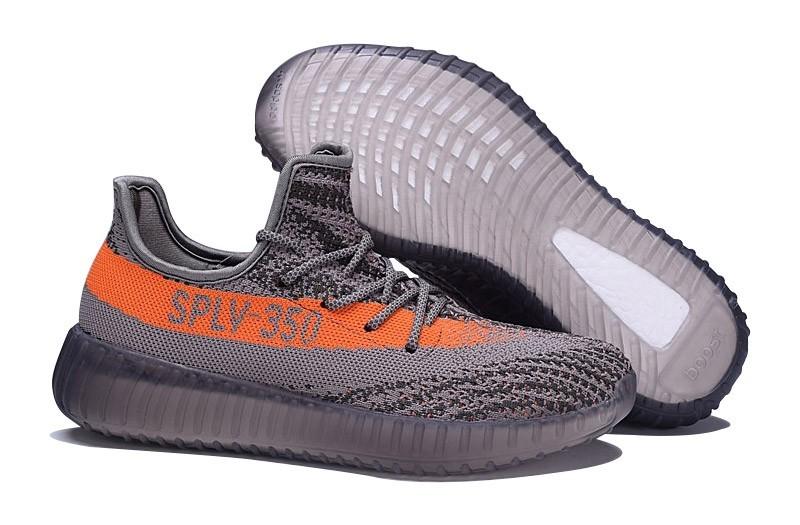 Compra Hombre Mujer Zapatillas de Running: Adidas Yeezy Boost 350 V2 Steeple Grises Solar Naranja BB1826 Outlet España